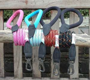 Long Paws Comfort Rope Leash For Dogs in Stylish Colours