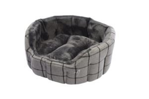 Gor Pets Camden Deluxe Dog Bed Grey Check