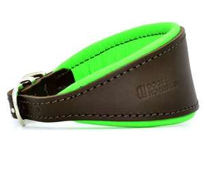 D&H Contemporary Colours Leather Hound Collar - green