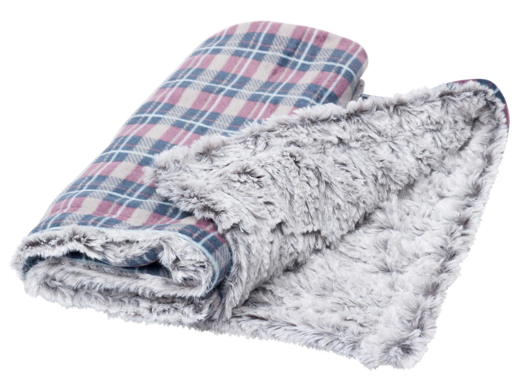 Petface Dove Grey Check Comforter Pet Blanket