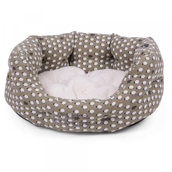 Petface Sleepy Sheep Oval Dog Bed