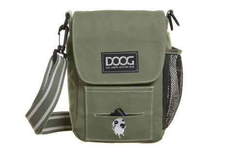DOOG Walkie Shoulder Bag in Green with Green and white strap