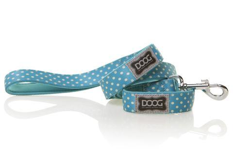 DOOG dog lead Snoopy - turquoise with polka dot design