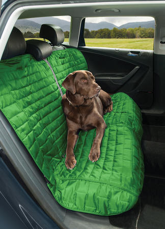 Kurgo Loft Bench Car Seat Cover For Dogs green eith dog