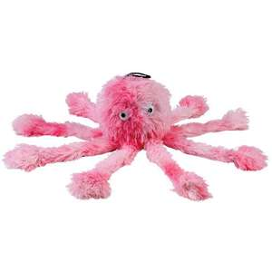 Gor Pets Reef Octopus Soft Squeaky Dog Toy - Pink