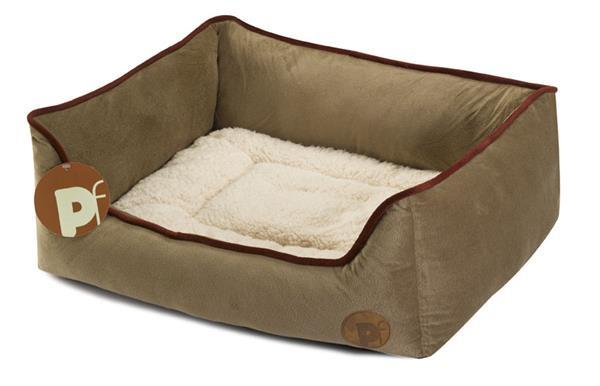 Petface Country Square dog bed- Grey