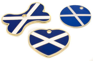 Flag Engraved ID Tag Scotland - enamel
