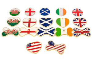 Flag Engraved ID Tags Enamel