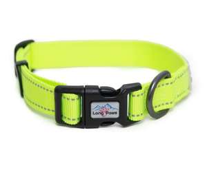 Long Paws Urban Trek Reflective Neon Dog Collar