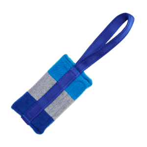 Tug-E-Nuff Food Bag Standard - Blue/Grey/Light Blue Fleece