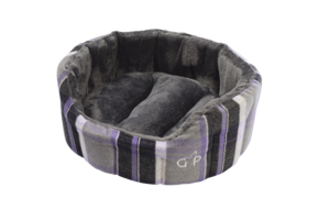 Gor Pets Camden Deluxe Dog Bed Purple Check