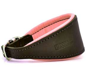 D&H Contemporary Colours Leather Hound Collar - pink