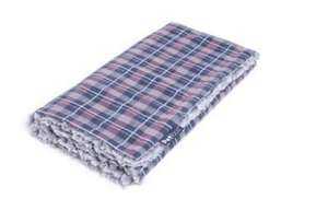 Petface Dove Grey Check Comforter Pet Blanket reversible