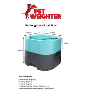 PetWeighter Elevated Weighted Dog Bowl Small Bowl Sizes