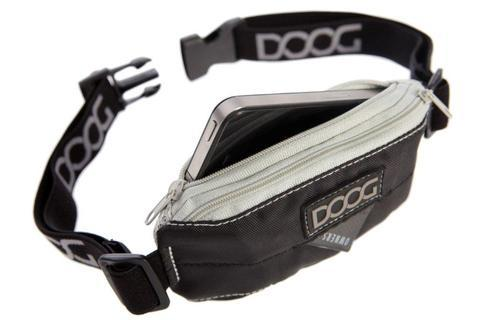 DOOG mini belt for dog walking - Black/grey