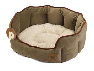 Petface Country Oval dog bed- Grey