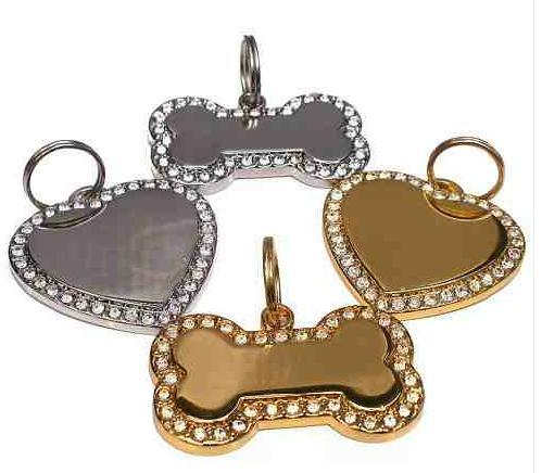 Crystal Bling Engraved Pet ID Tags
