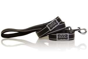 DOOG dog lead Lassie - black with grey reflective stripe
