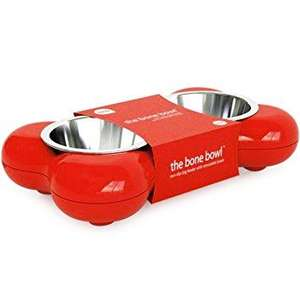 Hing Bone Dog Bowl Duo Red