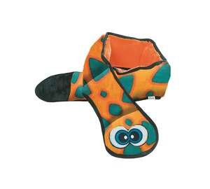 Outward Hound Invincibles Snakes Durable Soft Dog Toy - 6 squeak