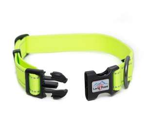 Long Paws Urban Trek Reflective Neon Collar open
