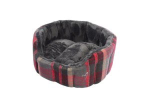 Gor Pets Camden Deluxe Dog Bed Red Check