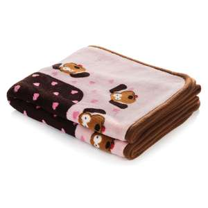 Smart Pet Love Snuggle Blanket Pink Heart