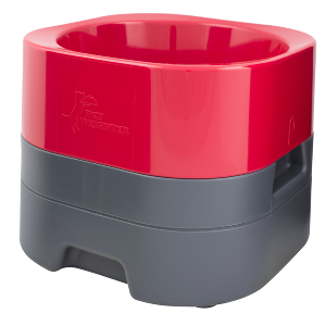 PetWeighter Elevated Weighted Dog Bowl Red