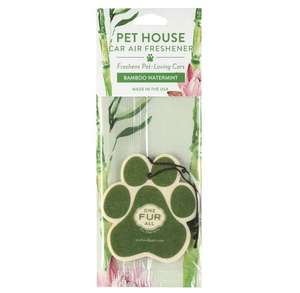 Pet House Car Air Freshener - Bamboo Watermint in Packet
