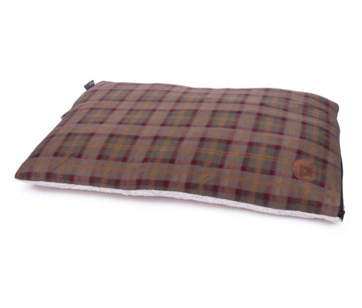 Petface Country Check Pillow Mattress for dogs check fleece side