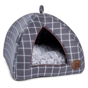 Petface Window Pane Check Igloo Cat Bed