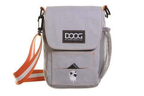 DOOG Walkie Shoulder Bag in Grey with Orange and white strap