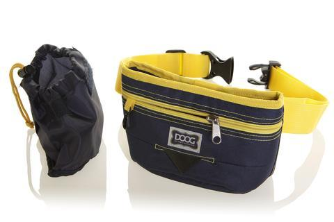 DOOG Good Dog Treat Pouch in Navy/Yellow
