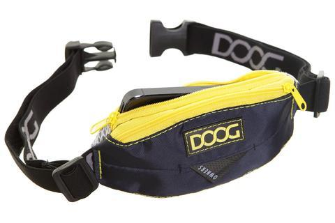 DOOG mini belt for dog walking - Navy/Yellow