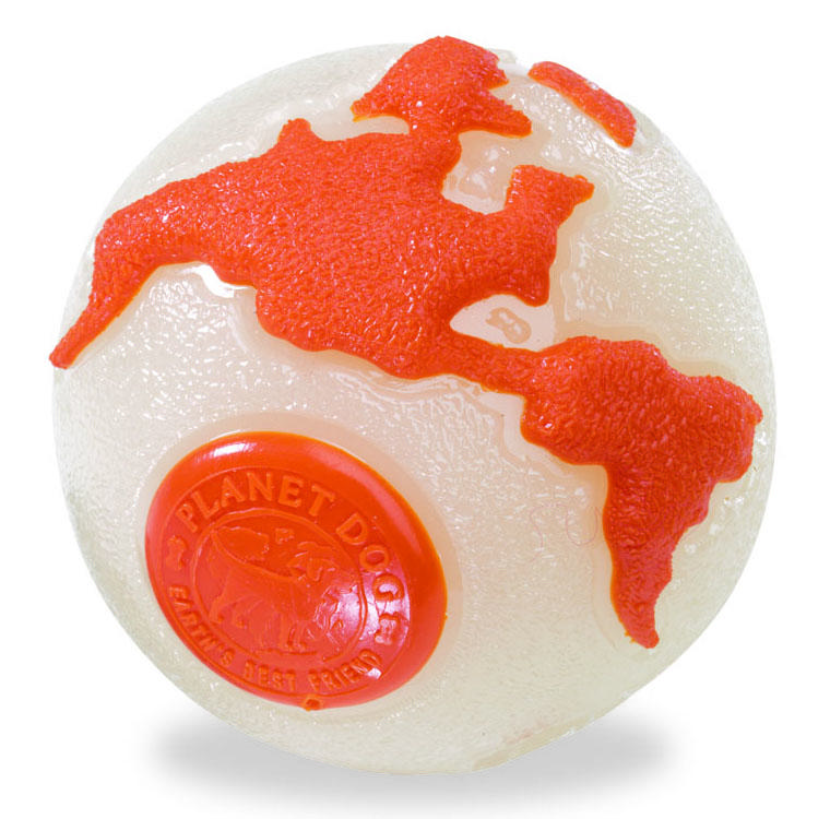 Planet Dog Orbee Tuff Orbee Ball - Glow/Orange