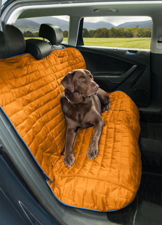 Kurgo Loft Bench Car Seat Cover For Dogs Orange