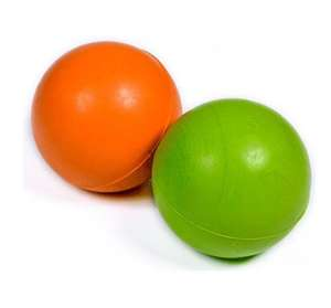 Petface Solid Rubber Ball Orange or Green