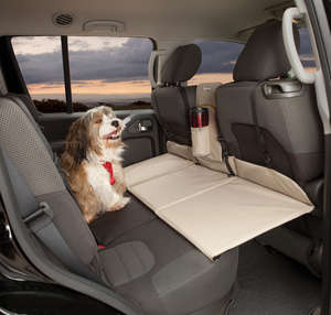 Kurgo backseat bridge rear car seat extention for dogs Hampton Sand