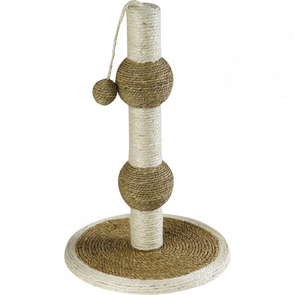 Petface double bubble cat scratcher post with sisal rope and ball toy