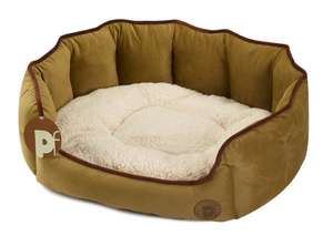 Petface Country Oval dog bed -Taupe