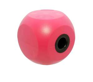 classic mini buster cube treat dog toy - cherry