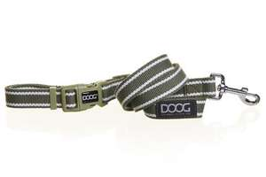 DOOG Clip it Cambridge green and white striped lead