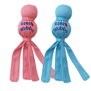 Kong Wubba Puppy Toy Blue and Pink