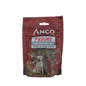 Anco Fusions Grain Free Natural Dog Treats - Beef & Rabbit