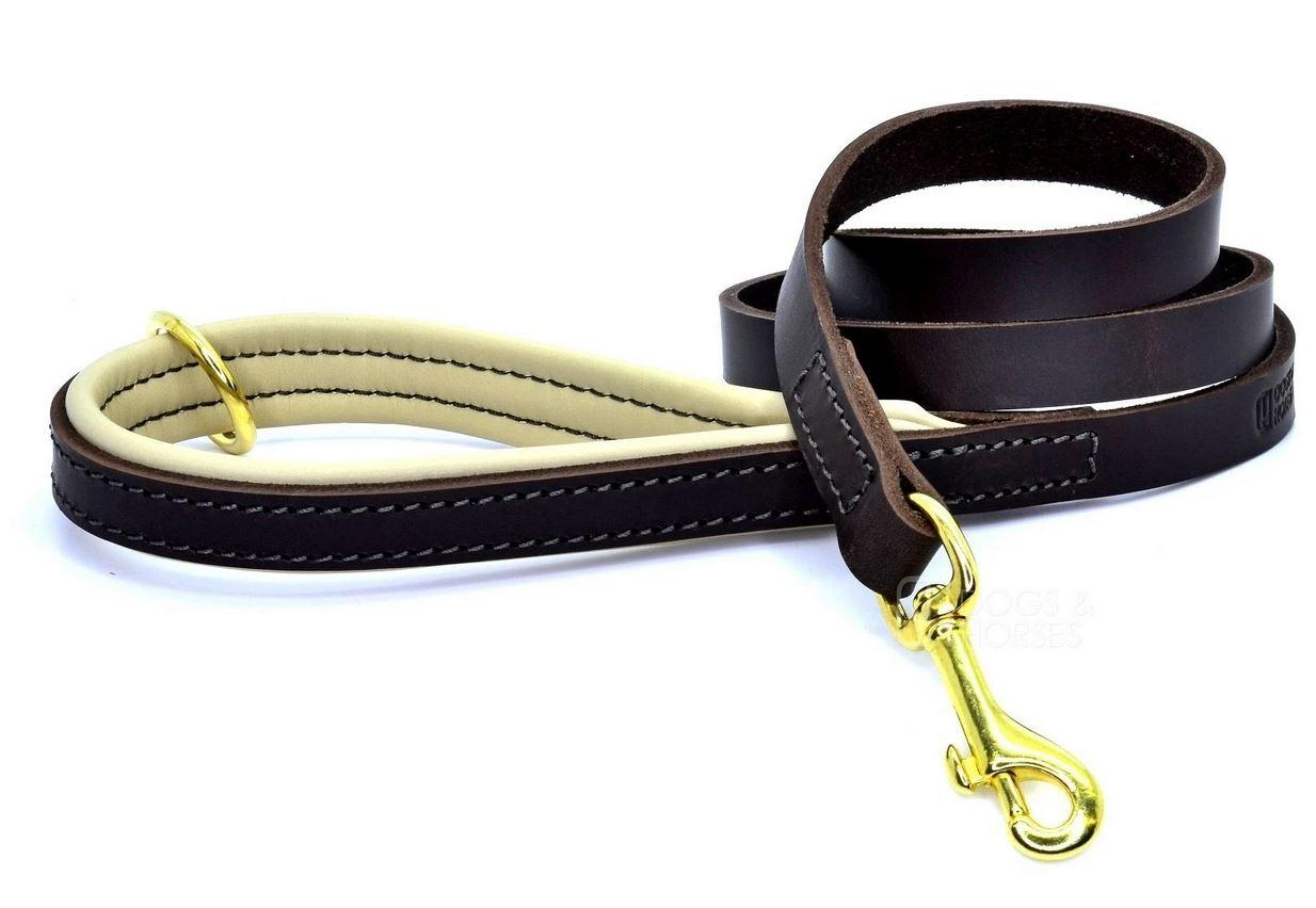 D&H Classic Colours Luxury Leather Dog Lead Brown