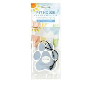 Pet House Car Air Freshener - Sunwashed Cotton in Packet