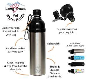 long paws pet water bottle Features