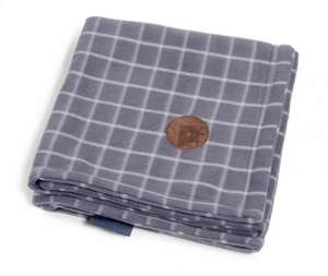 Petface Window Pane Check Fleece Blanket