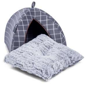 Petface Window Pane Check Cat Igloo Bed