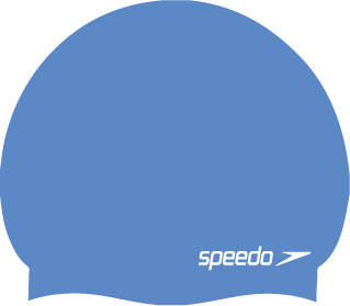 Speedo Moulded Silicone Swimming Cap in powder blue